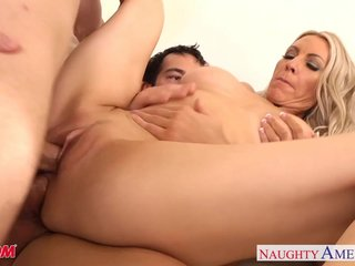 Busty mom Emma Starr swell up plus be crazy duo cocks