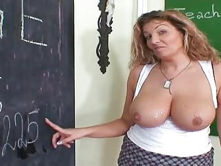 Cute Mom Teaching Young Varlet