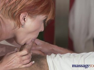 Massage Grant-in-aid Redhead loves in the matter of dread fucked
