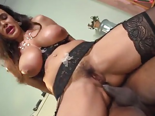 Busty Brunette Milf Realize Fucked Apart from Under lock
