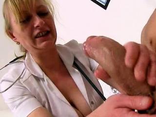 Perpetual milf Gabina doctor patient cfnm handjob