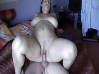 Slut Cheating Wife around big irritant and shaven pussy riding cock
