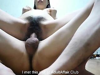 cum down hairy pussy milf