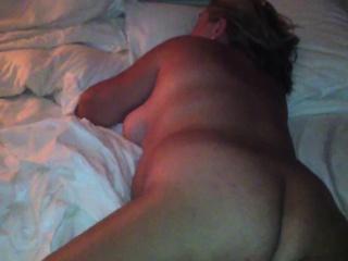 Amateur MILF fleshly filmed by her husband