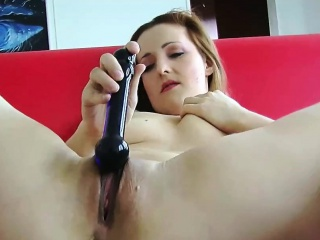 Redhead MILF Sanna is contents say no to tight twat with a trinket