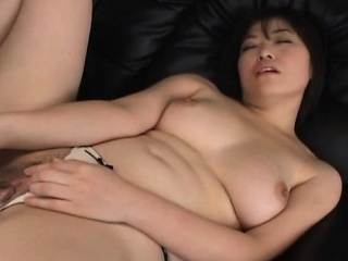 Rina with heavy boobs has exasperation touched and sucks joystick