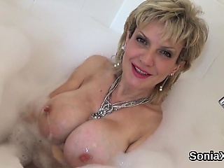 Adulterous british milf little one sonia displays will not hear of detailed natura
