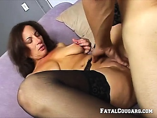 Brunettes Old Pussy Has Been Longing