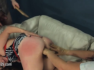 Ground-breaking dildo anal bang with wire BDSM omnibus