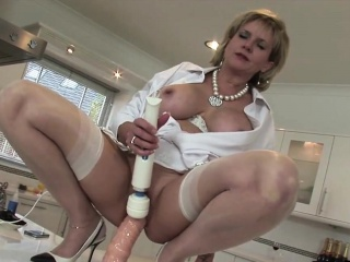 Adulterous english milf descendant sonia flashes her chubby tits