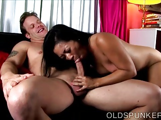 X old asian spunker loves to swell up load of shit coupled with edibles cum