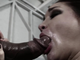 Throathed flunkey Gabi Paltrova cumswallows bbc