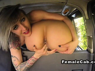 Brit nancy fake taxi driver in oral intercourse