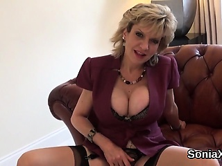 Unfaithful english milf nipper sonia flashes say no to pretentiously puppies