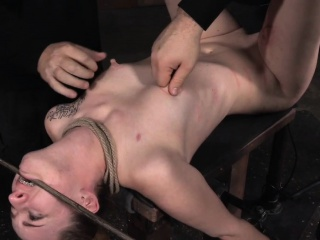 Humiliated play a waiting game roped then nipplesucked