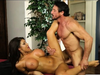 Big boobs officer banged by her masseur on massage food