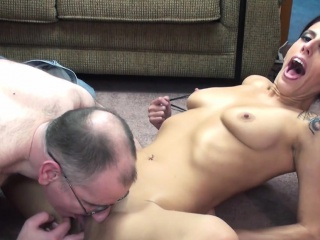 Affront milf encircling hot company sex encircling senior man