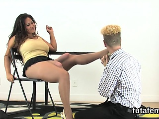 Teens nail studs anus in the matter of monster strapons with an increment of squirt ejacu
