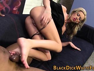 Bbc doting slut feet jizz