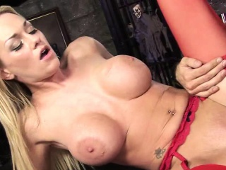 Horny blonde MILF with obese boobs, Paige Ashley, gets down...