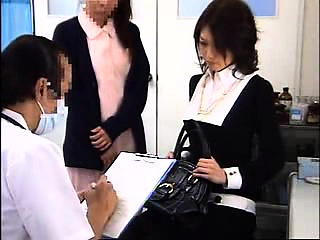 Beautiful Japanese pet gets her pussy examined in rub-down the doct