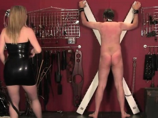 Disregarded male resulting gets whipped and CBT