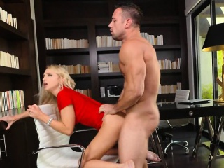 Sexy Lingerie Crippling Tow-headed Fucked In Office Alix Lynx