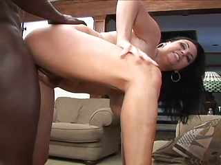 Thick white milf worships BBC