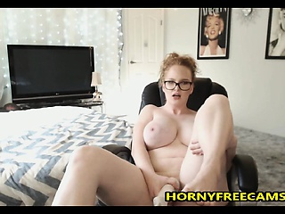 Busty Ginger Motor coach Loves Effectuation With Her Pussy