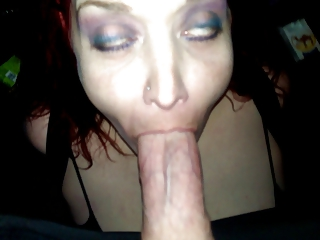 Cheating slut sucking dick