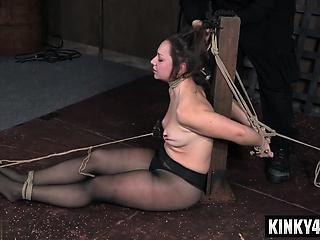 Hot pornstar bdsm subjection coupled with cumshot