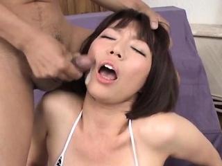 Izumi Manaka indigent materfamilias loves cum on outlook