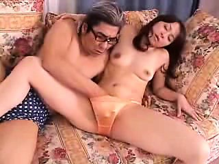 Slim Japanese fit together has her nerdy lover tasting added to fucking