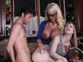 Dolly Leigh with an increment of Alura Jensen in My Play Girlfriend