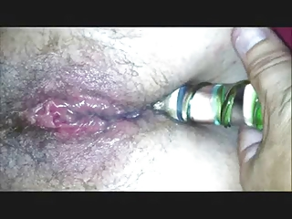 Dildo fucking my real wife after sex, part 2