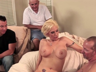 Blonde MILF become man big horseshit anal creampie