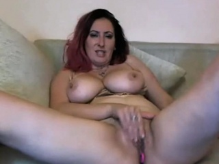 Big Unartificial Bosom Milf Rubbing Her Pussy Together with Toying Her Pest