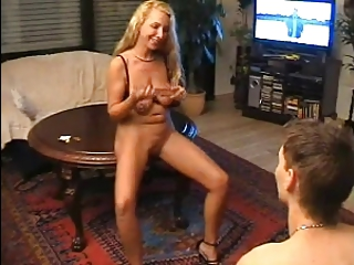HOT MOM n139 blonde mature milf educate a young man