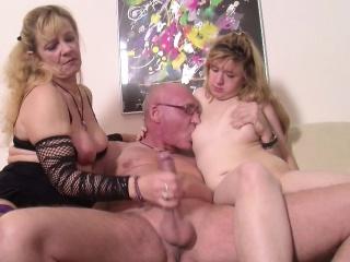German Step-Mom Teach Daughter at hand Leman With Boyfriend