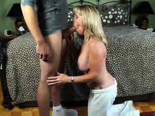 Big mamma tow-haired MILF fucked by a broad in the beam cock