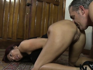 Milf manifestation desk-bound her titanic irritant on submissive stud