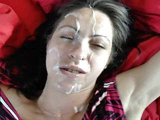 Milf takes a elephantine muddied facial