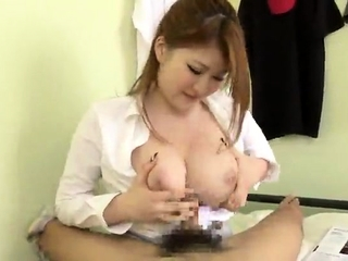 Big Bosom Send up Virgin Gives Titjob