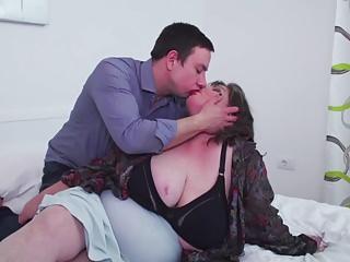 Extra Chubby maw fucked hard by kinky son