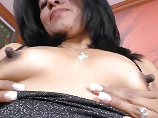 Latina milf Veronica plays surrounding the brush 1 swamped nipples