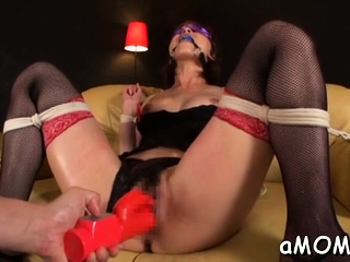 Milf with ripsnorting boobs factory schlong groove on a goddess