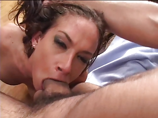Fiery chick is rough fucked from behind in bedroom