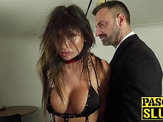 Hot MILF subslut gagged and hammered wide of authority Pascal