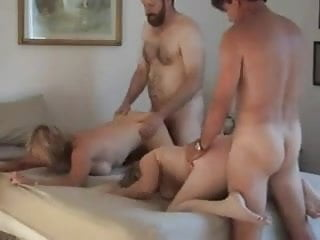 Four Adult Moms Doggied Hard