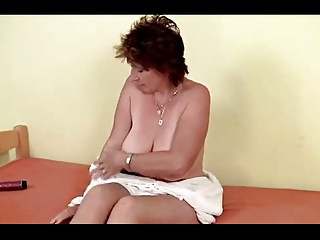 mature 42 years old masturbating with a dildo